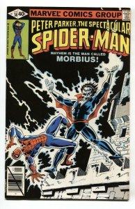 SPECTACULAR SPIDER-MAN #38 Comic Book 1979 Morbius issue-VF/NM