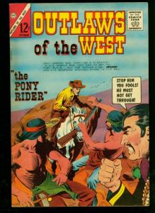 Outlaws of the West #50 1964- Charlton Western- Pony Express- Billy the Kid- VF