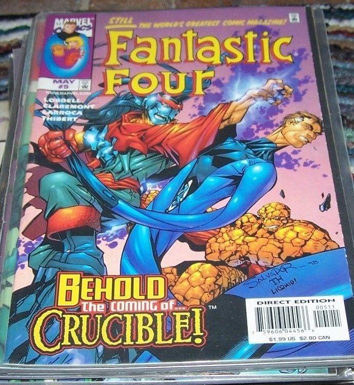 FANTASTIC FOUR #5 vol 3  1997 marvel   heroes return   CRUCIBLE