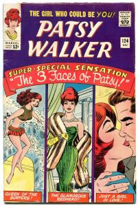Patsy Walker #124 1965-Marvel-paper dolls- Surfing Sweeties- Last issue VG