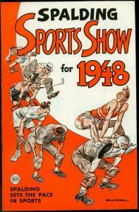 SPALDING SPORTS SHOW-1948-COMIC-WILLARD MULLIN-B RUTH VF