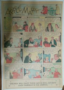 Apple Mary Sunday Page by Martha Orr from 4/7/1935 Size Full Page 15 x 22 inch