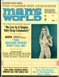 Man's World Magazine February 1970- Mafia Vultures- Blonde with Easy Touch
