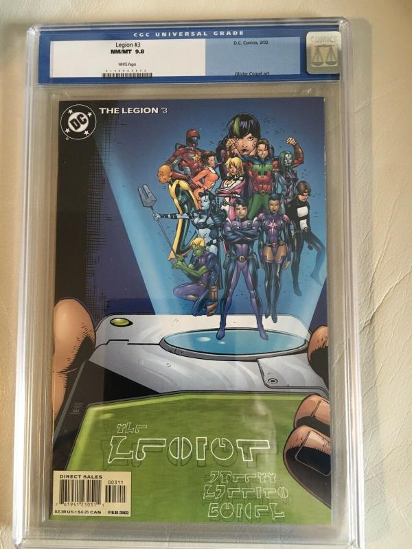 The Legion #3 CGC 9.8 Olivier Couple Art (Feb 2002, DC)