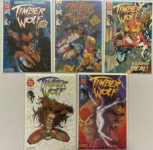 Timber wolf set:#1-5 avg 8.5 VF+ (1992-93)