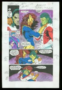 NEW TITANS #105 PRODUCTION ART DC COLOR GUIDE