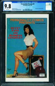 Personality Classics #8 CGC 9.8 BETTY PAGE issue!  2021118011
