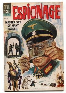 Espionage #1 1964- Dell Silver Age comic- Nazis v Chameleon VF+
