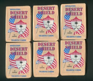 1991 Pacific Desert Storm Trading cards  unopened Packs ( 6 )