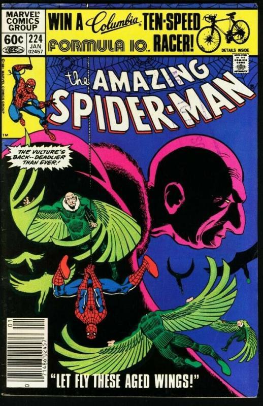 AMAZING SPIDER-MAN #224-1981-MARVEL-fine FN