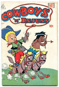 Cowboyus 'n' Injuns #7 1964- Golden Age  comic Reprint - FN