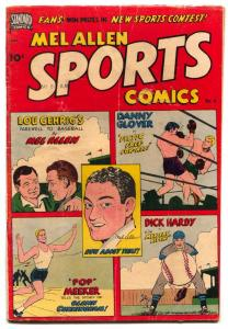 Mel Allen Sports #6 1950- Lou Gehrig-Dick Hardy LAST ISSUE vg