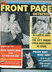 FRONT PAGE DETECTIVE-08/1956-SEX KILLER-DEVIL-PISTOL-BODIES-VENOM FR/G