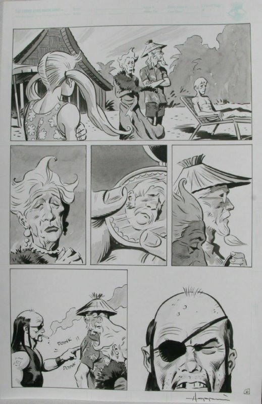 TIGRESS TALES #5 Original Mike Hoffman art, Page #6, Signed, published