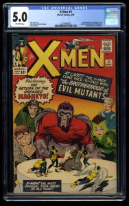 X-Men #4 CGC VG/FN 5.0 Off White 1st Scarlet Witch and Quicksilver!