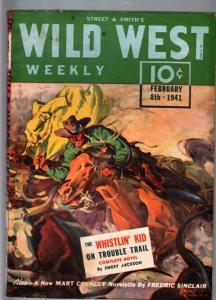 WILD WEST WEEKLY 2/8/1941-WESTERN PULP-WHISTLIN KID FN
