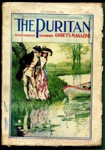 Puritan 9/1899-Godey's Magazine-good art-historic--pulp format-VG