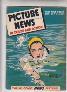 Picture News #8 (Sep-48) VG/FN Mid-Grade Monte Hale, Margaret O'Brien, Jesse ...