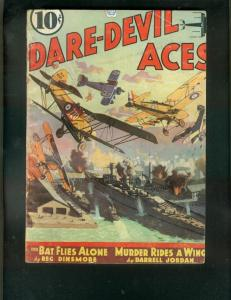 DARE-DEVIL ACES PULP-3/1937-BAT FLIES ALONE-RED FALCON G/VG