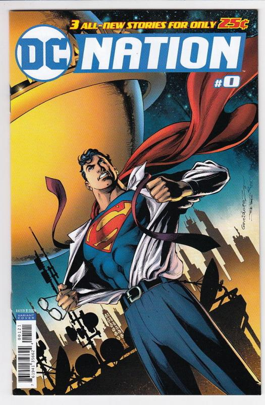 DC NATION (2018 DC) #0 VARIANT 1:100 SUPERMAN ED by Garcia-Lopez  NM-