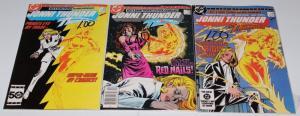 DC Jonni Thunder AKA Thunderbolt #1-3 (1,2,3) DC Comics 1985 ~ VF (HX276)