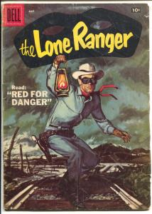 The Lone Ranger #107 1957-Dell-Tonto-Silver-Donald Duck-View-Master-VG-