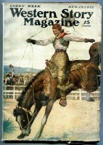 Western Story Magazine Pulp August 12 1922- Phantom Hounds