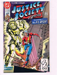 Justice Society Of America #1 VF DC Part 1 Of 8 Comic Book Flash 1991 DE12