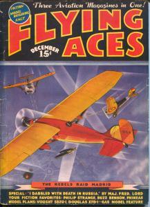 Flying Ace 12/1936-Capt Philip Strange-Kerry Keen-hero pulp-VG