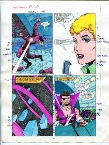 Justice Machine #24 Page #25 1988 Original Color Guide