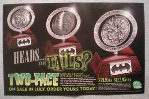 TWO-FACE COIN Promo Poster, 17x11, 2000, Unused, more in our store