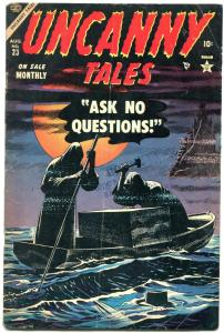 Uncanny Tales #23 1954- Werewolf- Atlas horror- Captain America ad VG