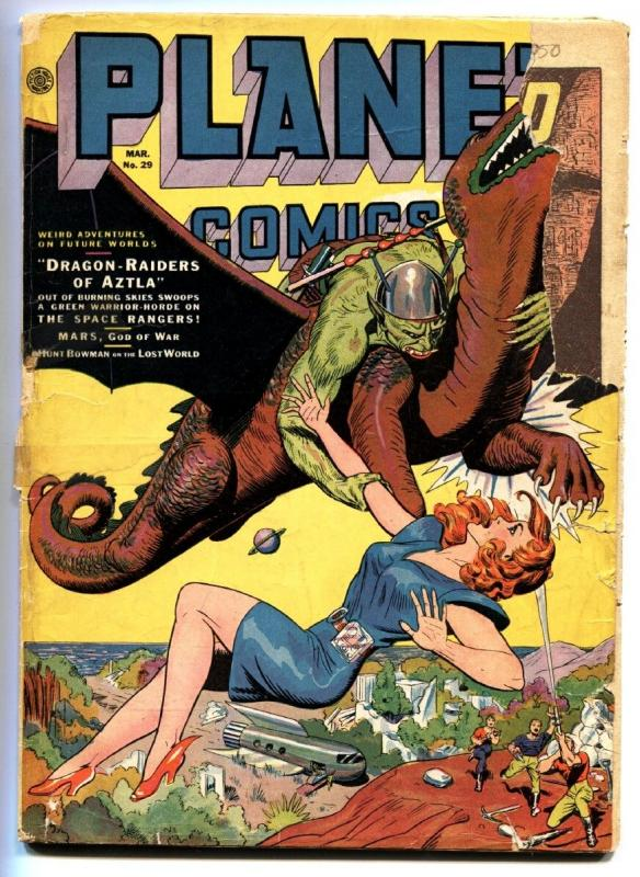 Planet #29 -1944-Fiction House-HEADLIGHT cvr-SPACE RANGERS-Golden-Age-Comic book