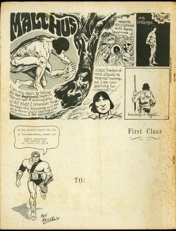 On the Drawing Board Fanzine Vol 2 #13 1967- Mandrake- Ken Keller VG