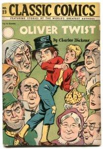 Classic Comics #23 HRN 30- edition 2B- Oliver Twist VG