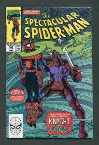Peter Parker,Spectacular Spiderman #166 / 9.0 VFN/NM   July 1990