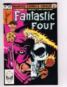 Fantastic Four #257 FN/VF Marvel Comics Bronze Age Comic Book Aug 1983 DE42