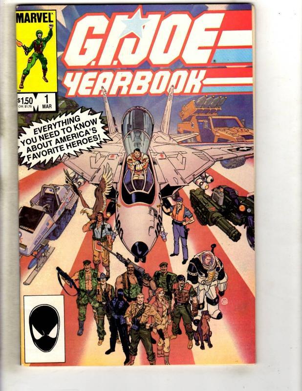 8 GI Joe Marvel Comic Books YEARBOOK 1 2 3 4 ORDER OF BATTLE