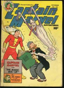 CAPTAIN MARVEL ADVENTURES-1949-FAWCETT-BLACK MAGIC CVR VG