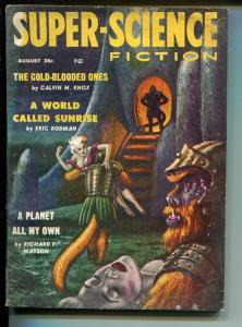 Super-Science Fiction 8/1958-Headline Pubs-pulp thrills-Kelly Freas-VG