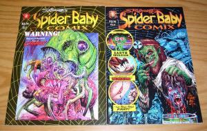 Steve Bissette's Spider Baby Comix #1-2 VF/NM complete series underground horror