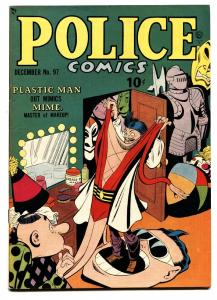 POLICE COMICS #97 1950-PLASTIC MAN-VF/NM comic book