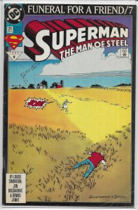 Superman  : Man of Steel   # 21 GD (Funeral For a Friend 7)