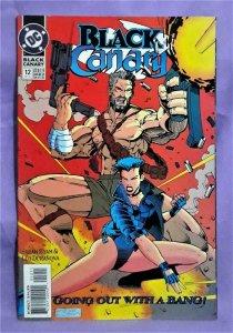 Sarah Byam BLACK CANARY #12 Leo Duranona FINAL ISSUE (DC, 1993)!