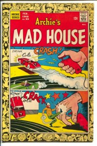 Archie's Mad House #59 1968-slot car cover-Sabrina story-VF