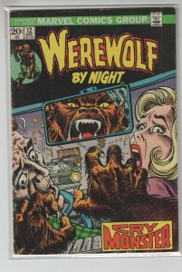 WEREWOLF BY NIGHT (1972 MARVEL) #12 VG+ A14890
