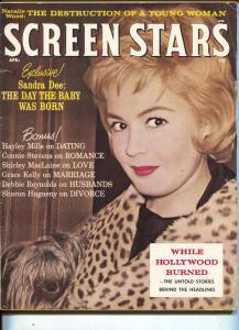 Screen Stars-Sandra Dee-Natalie Wood-Connie Stevens-Shirley MacLaine-Apr-1962
