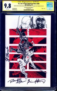 G.I. Joe #266 VARIANT CGC SS 9.8 signed ORIGINAL SNAKE EYES STORM SHADOW SKETCH