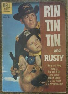 RIN TIN TIN (Dell, 5/1960) #34 GD. w/Rusty! Photo Cover Comic!