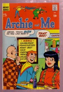 ARCHIE AND ME #27 1969 UFO ISSUE - SUPERHEROES APPEAR! VF